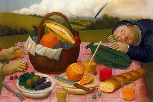 Fernando-Botero-Picnic-1989-via-aifb-com