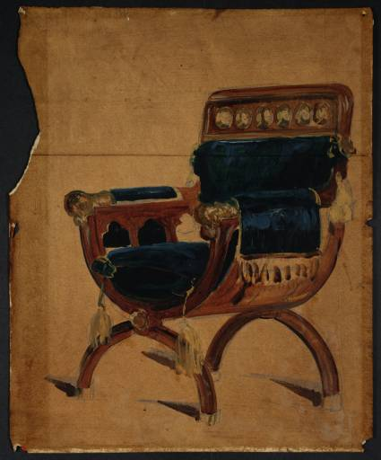 An Arm Chair circa 1801 by Joseph Mallord William Turner 1775-1851